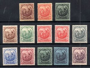 Barbados-KGV-1921-24-sets-A-amp-B-mint-LHM-WS17856