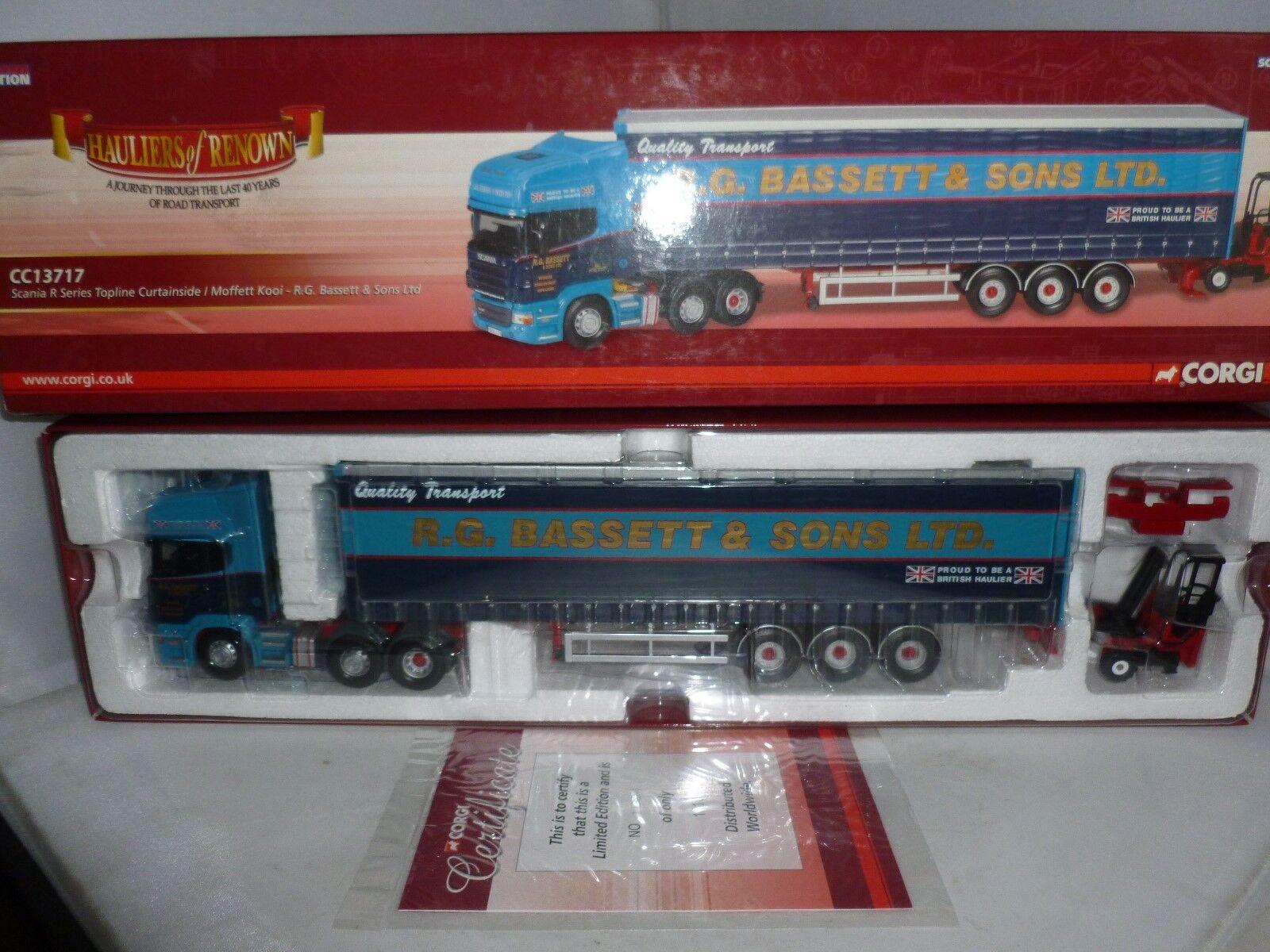 Corgi Diecast transportistas de renombre CC13717 Scania Serie R Topline Curtainside