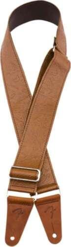 Brown 099-6970-000 Genuine Fender® Tooled Leather Guitar Strap