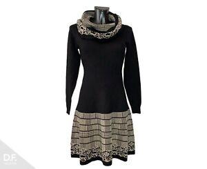 Invisible Made In France Damen Kleid 2 Teilig Mit Loop Herbst Winter Gr 34 48 Ebay