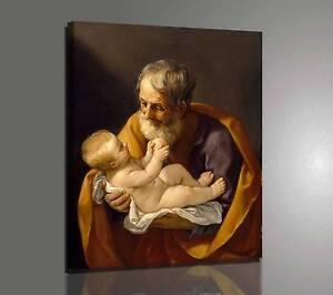 Guido Reni San Giuseppe Stampa su tela Canvas effetto dipinto