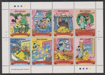 1990 Mnh Mickey Sheet Sg 1535/42 To Produce An Effect Toward Clear Vision Sierra Leone Disney Night Before Xmas