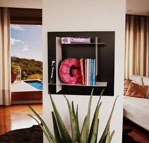 Libreria mensola design per salotto cucina camera ufficio e componibile ebay - Libreria per cucina ...