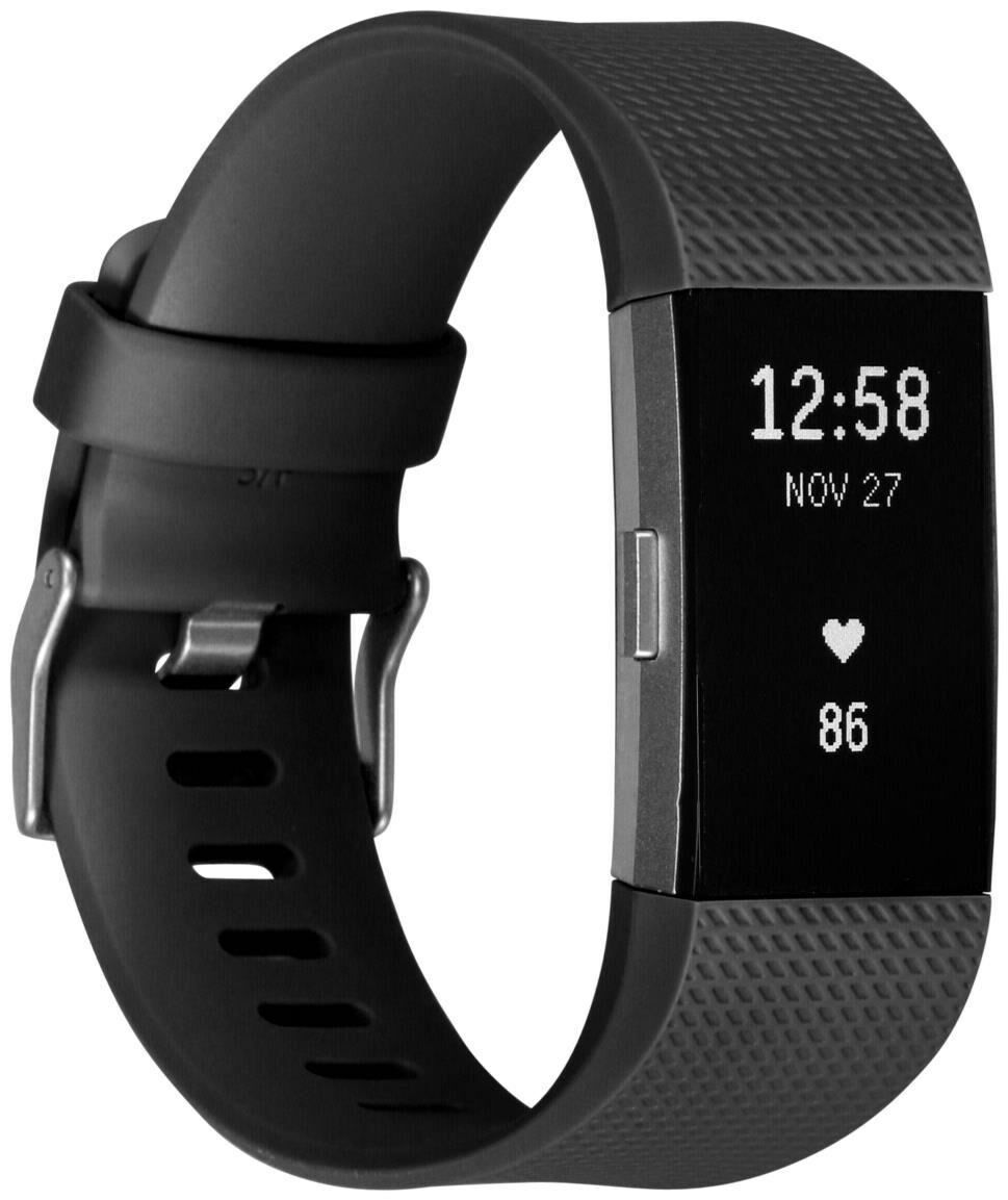 Fitbit Charge 2 Small schwarz / silber (Smartwatch)