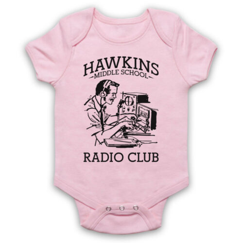 STRANGER THINGS UNOFFICIAL HAWKINS MIDDLE RADIO CLUB BABY GROW BABYGROW GIFT
