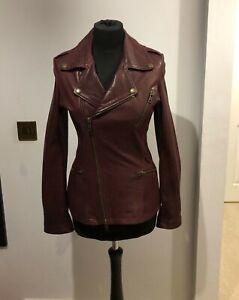 c12adafad8221 Image is loading McQ-Alexander-McQueen-Oxblood-leather-biker-jacket