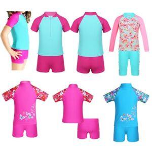 Girls-Swimsuit-Swimwear-Rash-Guard-Beachwear-Kid-Bathing-Surfing-Diving-Costumes