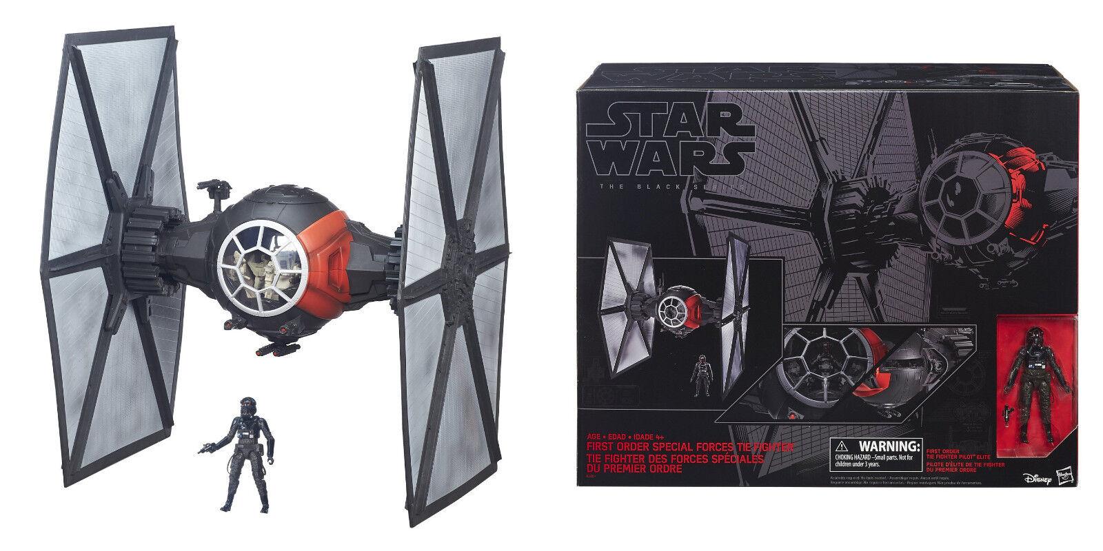 Hasbro Star Wars Negro Series fuerza despierta primera orden Tie Fighter Deluxe Set