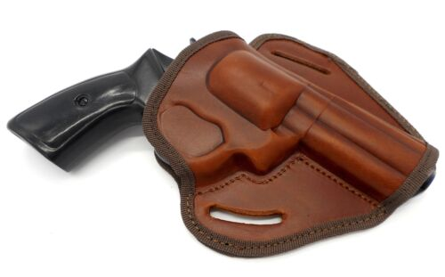 """CEBECI BROWN LEATHER OPEN TOP BELT HOLSTER for CHARTER ARMS BULLDOG 44 4.2/"""""""