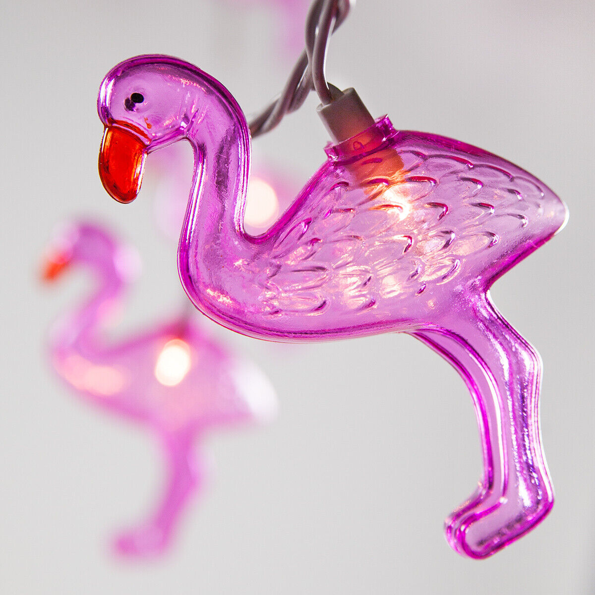 Pink Flamingo Tropical Summer String Lights Indoor Outdoor Pool Party Patio 9ft