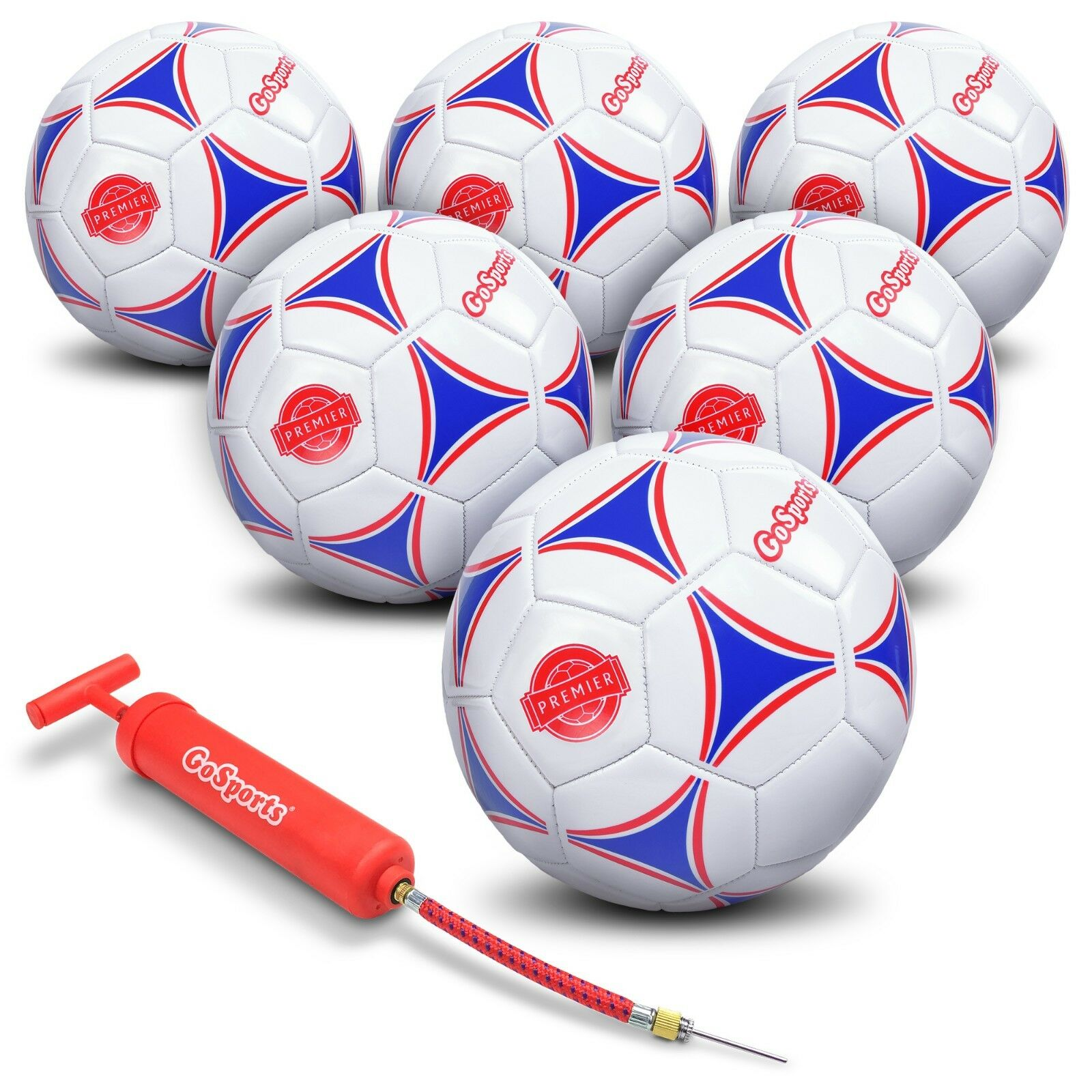 Gosports Premier pelota de fútbol con bomba Premium Premium Premium Pack 6, tamaño 5 495de7