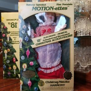 """18"""" Musical Telco Motion-ettes Animated Mrs. Santa Claus Plays 3 Christmas Songs"""