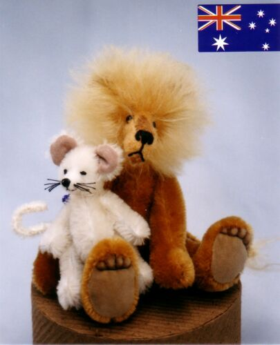 "/""LEROY /& LUCY/"" LION /& MOUSE PATTERN FROM KYMPATTI AUST"