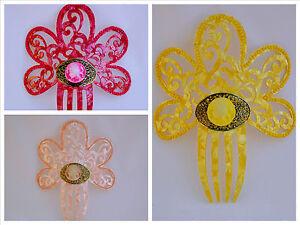 "Spanish flamenco hair comb//Peineta 7/"" height Many colours Direct from Spain"