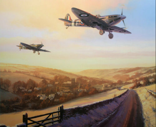 Gifts World War 2 Aircraft Military Bomber Giclee Canvas Print oil painting 103