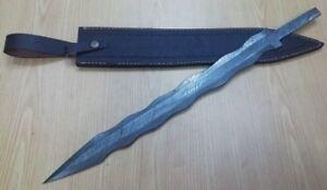 Custom-Handmade-Knife-King-039-s-Damascus-Steel-Kris-Blade