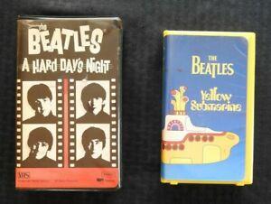 The-Beatles-034-Giallo-Sottomarino-034-amp-034-a-Hard-Days-Night-034-2-Nastro-VHS-Set