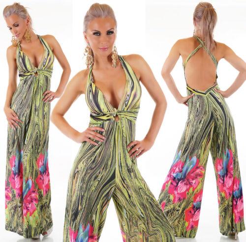 tuta elegante donna pantaloni lungo jumpsuit vestito abito cerimonia overall