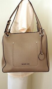 f6408f1dd40c Image is loading Michael-Michael-Kors-Walsh-Medium-Fawn-Saffiano-Leather-