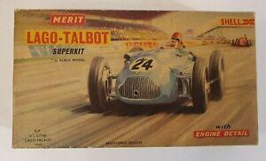 MERIT LAGO-TALBOT 4 1/4 LITRE 1949 SUPERKIT MODEL KIT 1/24 SCALE