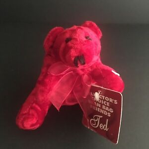 Vintage-Dan-Dee-Mini-3-Red-Ted-Plush-Dog-Collectors-Choice-Bean-Bag-Friends-New