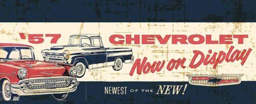 57 Chevrolet Car Advertisement Inspired Metal Sign