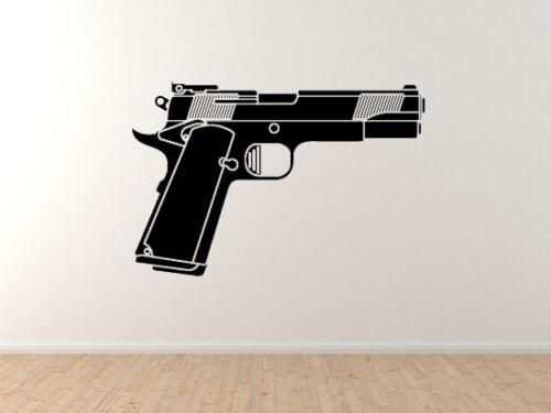 Semi-automatic Handgun Western Movie Gun Heavy Weapon #9 Vinyl Wall Decal Art