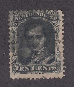 Newfoundland Sc 27A used 1865-94 10c Prince Albert