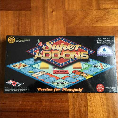Super Add-Ons Version for Monopoly Board Game New Tricks Party Family Fun Gift