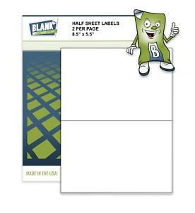 Half-Sheet-Self-Adhesive-Shipping-Labels-8-5-034-x-5-5-034-Blank-Labels-Brand-USA-Made