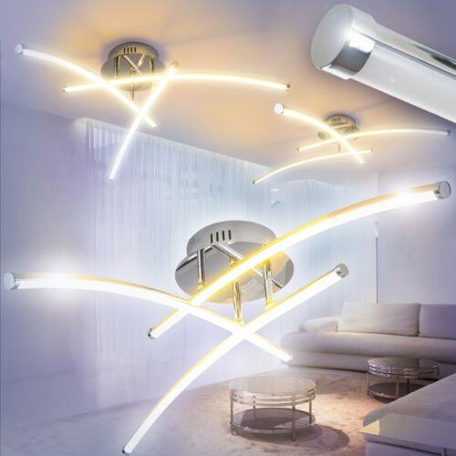 Deckenleuchte Design LED Flur Küchen Leuchte Wohn Zimmer Lampen Chrom 20 Watt