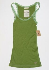 NWT-HOLLISTER-by-Abercrombie-Womens-Tank-Top-Navy-Green-XS-S