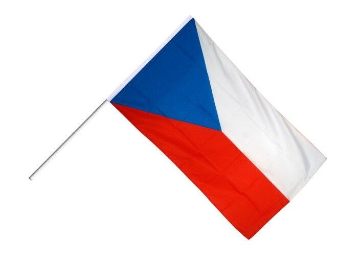 Tschechische Republik Stockflagge Flaggen Fahnen Stockfahne 30x45cm