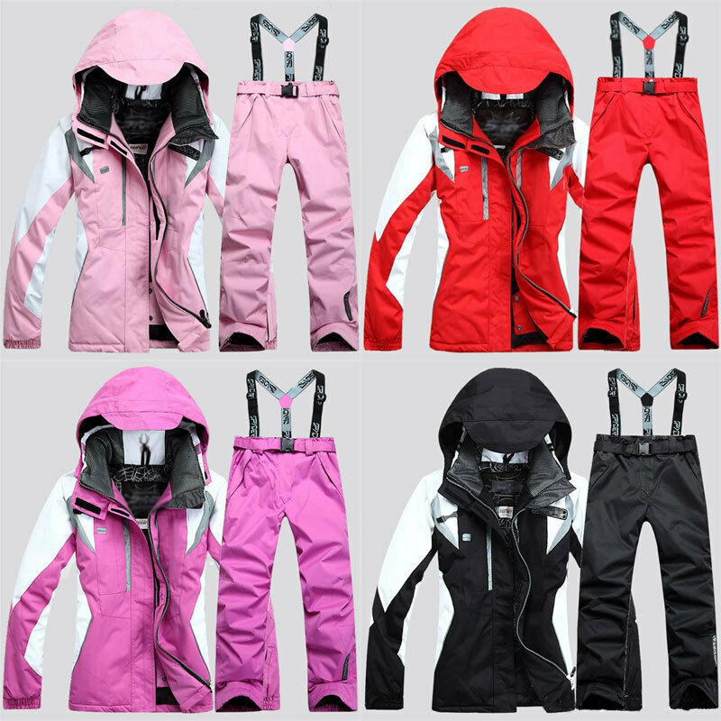 Women's Hiking Ski Snow Suit Waterproof Windproof Snowboard Clothing Coat&Pants
