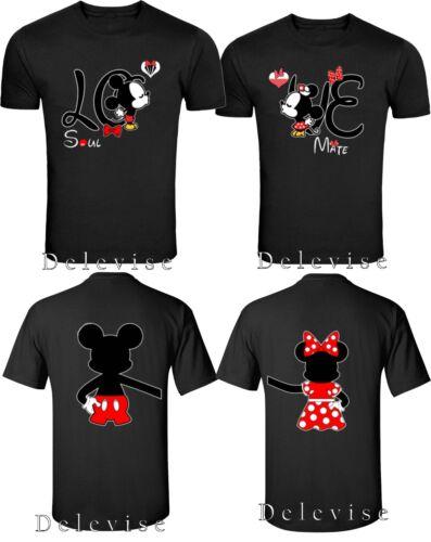 Mickey et Minnie Soul Mate couple Matching Drôle Mignon T-shirts S-4XL