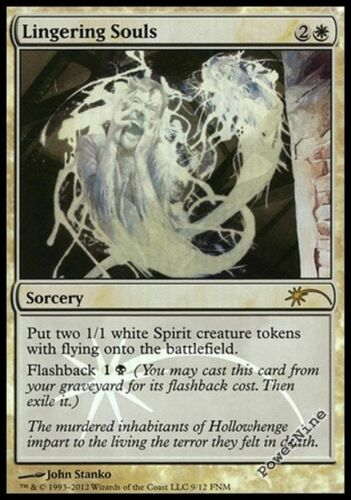 White FNM Friday Night Magic Mtg Magic Rar 4 PROMO PLAYED FOIL Lingering Souls
