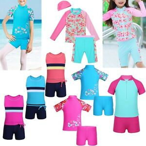 Girl-Kids-Swimsuit-Swimwear-Rash-Guard-Suit-Sun-Protection-Beach-Surfing-Costume