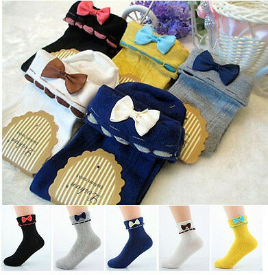 Japanese Mori Girls Lolita Cute Turn-over Socks Kawaii Bow Cotton Ankle Socks