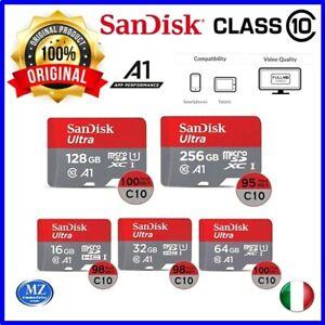 micro sd Sandisk ultra microsd 32 64 128 256 512 gb classe 10 scheda di memoria