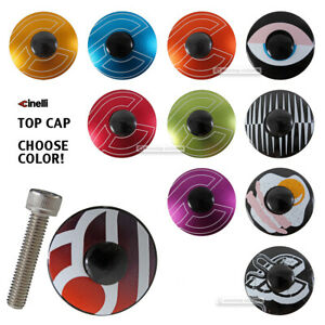 CINELLI-Alloy-Headset-Top-Cap-w-Bolt-1-1-8-034-Threadless-Steerers-ALL-COLORS
