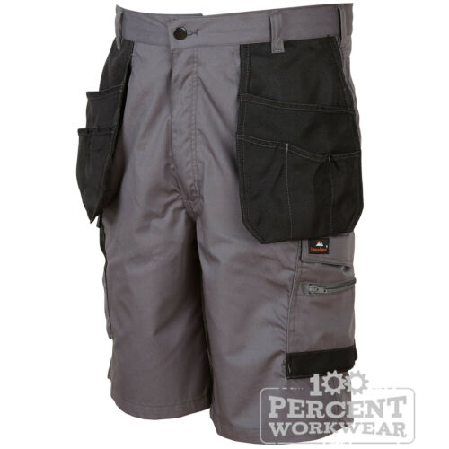 Hard Wearing High Quality Work Shorts Cargo Pockets Polycotton Tradesman Builder