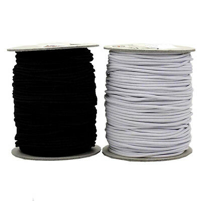 Assorted Colours 5m x 1mm Round Cord Elastic Free UK 1st Class P/&P