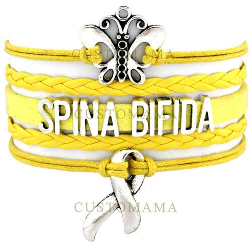 SPINA BIFIDA disability awareness charm BRACELET new gift bangle jewellery AB10
