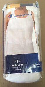 Champion Homme 5 Blanc Tagless Chars Taille L 42-44 Double Dry Super Doux Mc90wh-afficher Le Titre D'origine