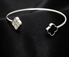 Women's Fashion 925 SILVER Plated Elegant  Bracelet Bangle Jewelry