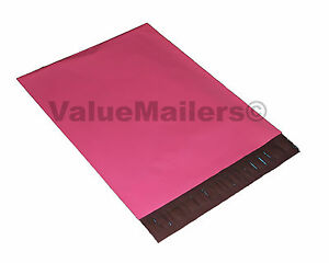 200 10x13 Hot LipStick Pink Designer Poly Mailers Shipping Envelopes Bags