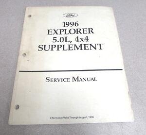 1996 Ford Explorer 5.0L 4x4 Service Repair Manual ...