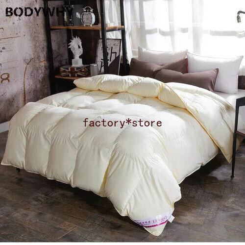 100% White Goose Down Comforter Duvet Insert Blanket Filling Feather 2020 Top