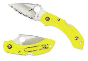 Spyderco-Dragonfly-2-Salt-Marine-Yellow-Serrated-Edge-Knife-C28SYL2
