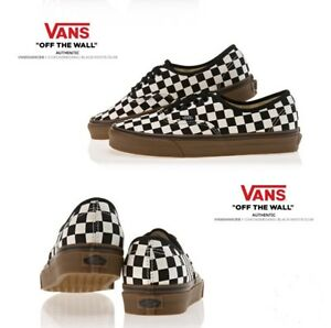 1fd03dfb3d40a0 Image is loading Vans-Authentic-Checkerboard-size-10-Black-White-Gum-